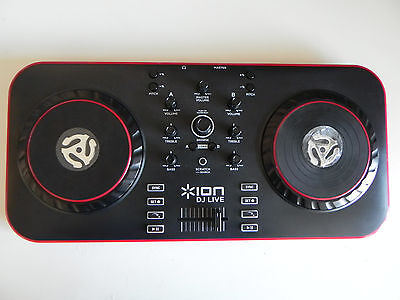 ION DJ Live 2 Channel Virtual DJ Controller for Mac - PC Laptop Mixer (NEW)