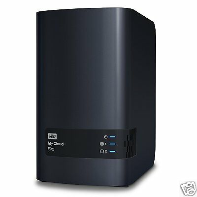 NAS WD My Cloud EX2 - 2 Baies - WDBVKW0080JCH (sans disques)