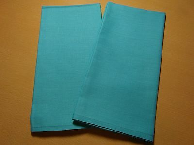Pair of Teal Bobbin Lace Pillow Covers