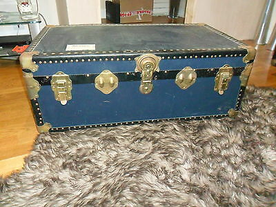 Antique Trunk Not Been Changed As It Was Originally Dark Colour See Description