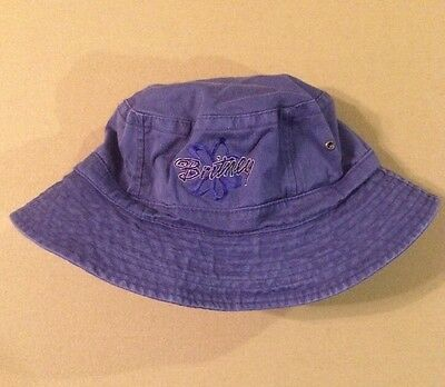 Britney Spears Official Hat Cap Vintage Purple Baby One More Time Era Logo Rare