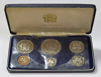 1971 Jamaica Proof Set With Original Mint Packaging Franklin Mint 6 Coin Set
