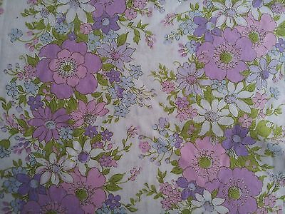 Vintage Retro Sheridian Double Fitted Sheet Fabric FLORAL
