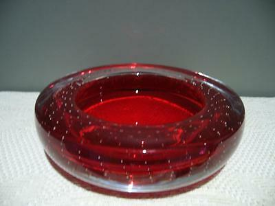 Stunning Whitefriars England Controlled Bubble / Bullicante Small Bowl -  Vgc