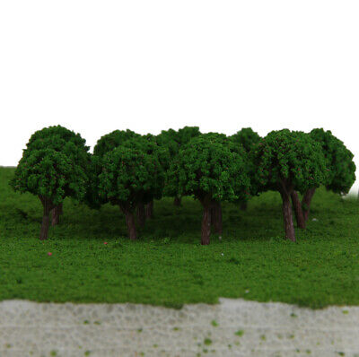 50pcs Plastic Green Trees Model Train Railway Garden Road Scenery Z T Scale 3cm