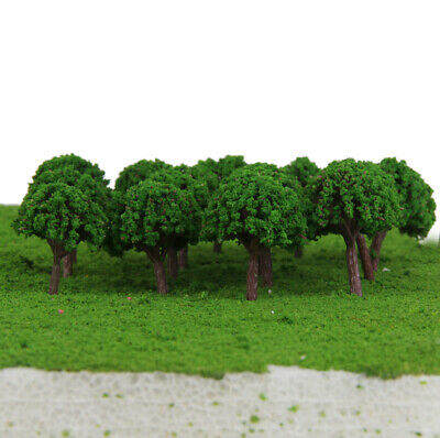 50pcs Light Green Trees Model Train Railway Layout Wargame Diorama Scenery Z T