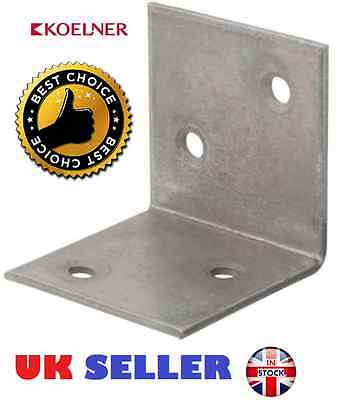 Galvanised Corner Brace Angle 90 Degree Bracket Timber Joist Plate Thickness 2mm