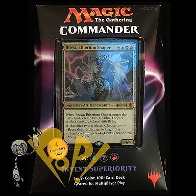 MTG Magic the Gathering Cards COMMANDER Deck 2016 INVENT SUPERIORITY Sealed !