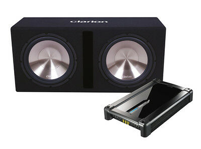 "Clarion Db3021Xr 2000W Max Dual 12"" Svc Subwoofers & Mono Amplifier Pack"