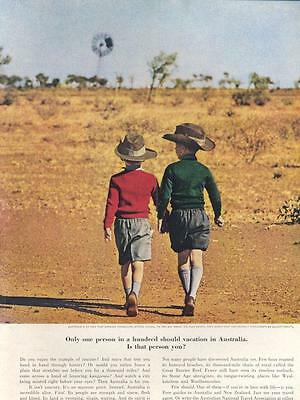 1962  1/100 Should visit Australian National Travel Outback Youngsters PRINT AD