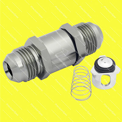 AN10 10AN Aluminium Inline Non Return One Way Check Valve Gray Metal W/ Warranty