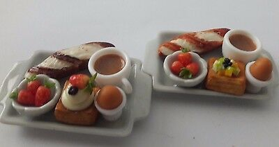 Dollhouse Miniatures Kitchen Food Art  Supply Handcrafted Afternoon Tea Set A17