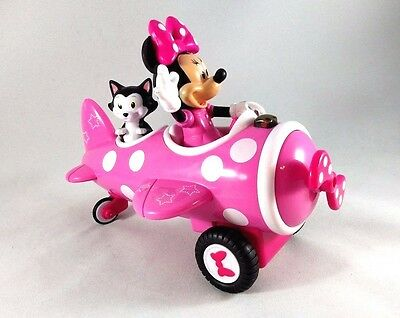 JADA TOYS Remote Control MINNIE MOUSE & Figaro Cat RC Pink Airplane - Plane Only