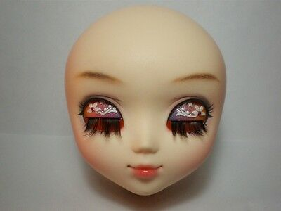 AngelGate OOAK Girl Doll Head-Sunflower fit for the barbie pullip obitsu body