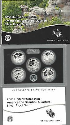 USA: America the Beautiful Quarters Silver Proof Set 2016