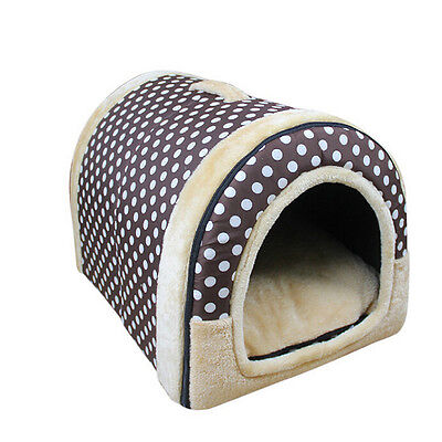 New Pet House Dog Cat Portable Kennel Nest Puppy Kitten Comfyr Warm Bed Cushion