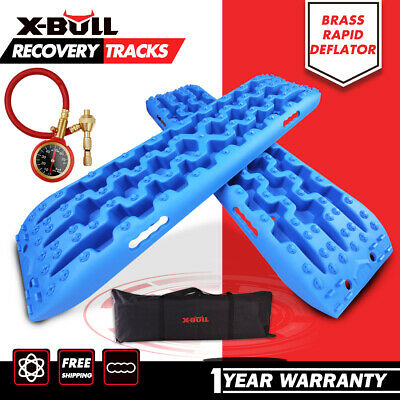 X-BULL NEW Pair Recovery Tracks /Sand Track/Mud  Blue Trax/Off Road 4WD