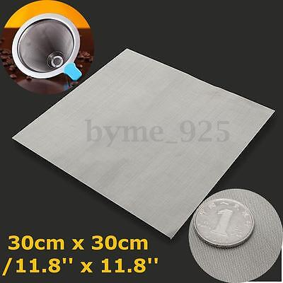 304 Stainless Steel 50 Mesh Woven Wire Cloth Screen Filter Sheet 30cm x 30cm