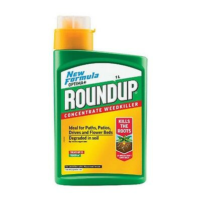 Roundup Weed Killer Liquid Concentrate1 Litre  New Formul New And Sealed