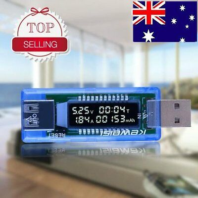 USB Volt Current Voltage Doctor Charger Capacity Tester Meter Power Detector AU@