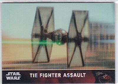 Tie Fighter 35 2016 Star Wars The Force Awakens Chrome Base Pulsar Refractor /10