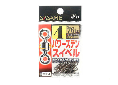 Sasame 210-A Power Stain Swivel Smooth Spin Black Size 4 (0860)
