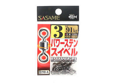 Sasame 210-A Power Stain Swivel Smooth Spin Black Size 3 (0877)