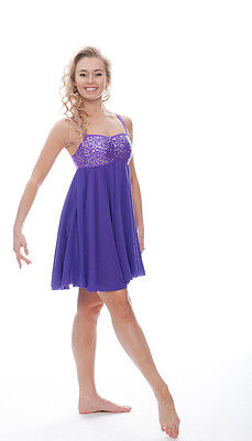 Sparkly Sequin All Colours Lyrical Dress Contemporary Ballet Dance Costume Katz