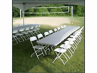 We Specialise in Table & Chair Hire for Any Occasion for indoor and outdoor use