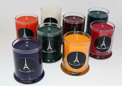 Soy Candle 7oz. in Clear Round Tumbler Container Handmade from Paris Candle Co.