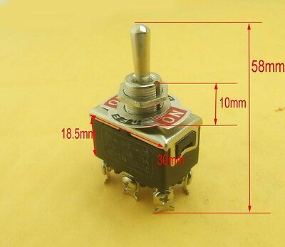 1x Flick Switch 6-pin (On)Off(On) Momentary switch Toggle Switches motor reverse