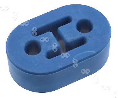 Universal Blue 2 Hole Exhaust Rubber Mount Hanger Heavy Duty Bushing Support