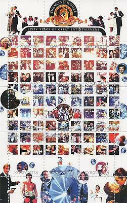 60 Years Of Hollywood James Bond Rocky Wizard Of Oz 1999 Mnh Stamp Sheetlet
