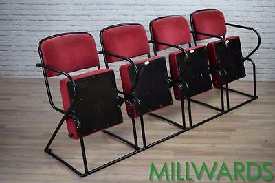 Vintage Industrial Cinema Theatre Seats Chairs Cafe Bar 40 AVAILABLE