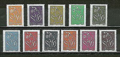 Serie Timbres 3731-3741 Neuf Xx Luxe-  Marianne De Lamouche