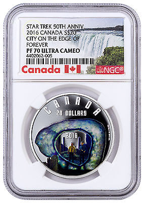 2016 Canada 1oz Proof Silver Star Trek City on Edge of Forever NGC PF70 SKU43087