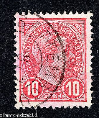 1895 Luxembourg 10c Red SG 156 FINE USED R24100