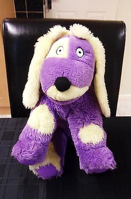 """Large 12"""" Purple Izzles The Dog From The Tweenies Soft Toy Cbeebies"""