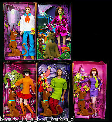 Scooby Doo Barbie Doll Fred Daphne Shaggy Velma  Pink ~ NO BOXES ~ Ken Lot 5