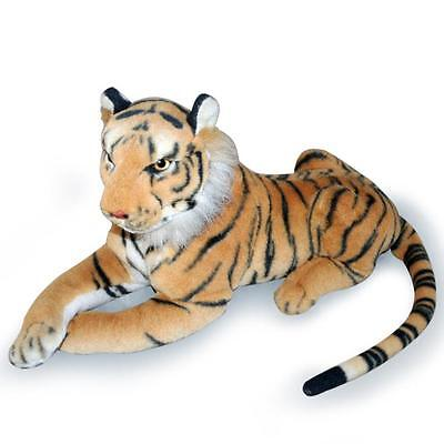 "33"" Large Brown Siberian Bengal Real Life Sitting Tiger Soft Toy Plush  48668X"
