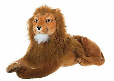 "33"" (84 cm) Large Lion Wild Real Life Features Soft Toy Plush  48666X"
