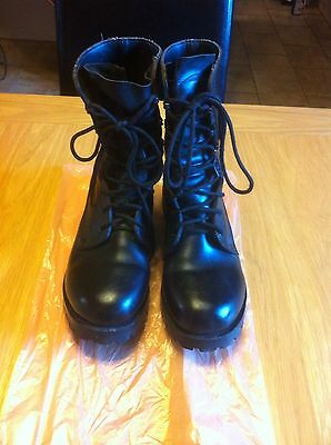 British Army Black Leather Boots Mens Size 7 & 8 L Uk Cadet Soldier