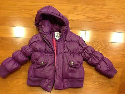 Toddler Girls APPAMAN MINI Hooded Down Feather Puffer Purple Jacket 12-18 Months