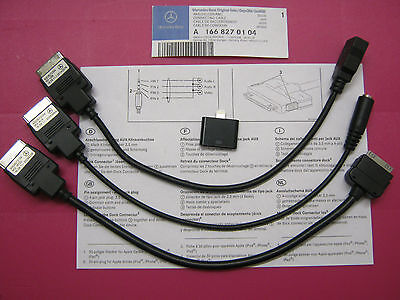 Genuine Mercedes Media Interface Cable lead AUX IPOD IPHONE USB MP3 A1668270104