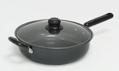 """Gourmet Chef Gourmet Chef 12"""" Non-Stick Frying Pan with Lid"""