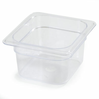 "Carlisle Food Service Products 4"" Food Pan Clear Set of 6"