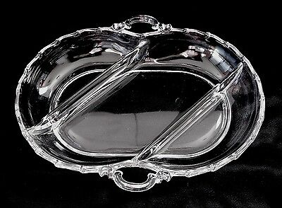 Vintage Fostoria CENTURY #2630 Crystal 3-part Divided Relish Dish c.1949-1982