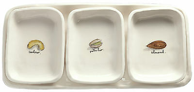 Magenta 4 Piece Nuts Divided Serving Dish and Serving Tray Set