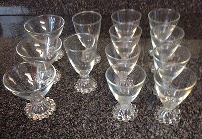 13 Pieces Imperial Candlewick Or Boopie Glassware