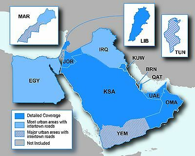 Middle East & Northern Africa NT Map 2017.10 for Garmin GPS on MicroSD card + 3D